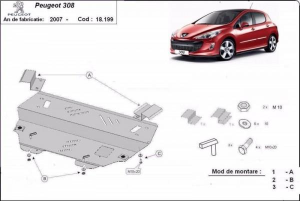 Stalowa Osłona pod silnik Peugeot 308 - (2007-2019)