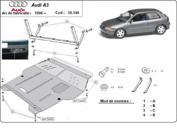 Stalowa osłona silnika Audi A3 - (1996-2003)