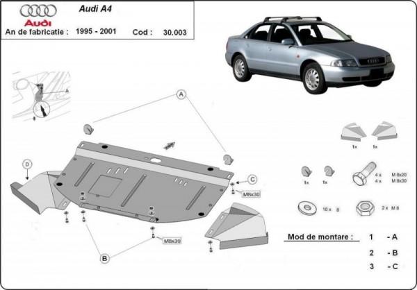 Stalowa osłona silnika Audi A4 B5 - (1995-2000)