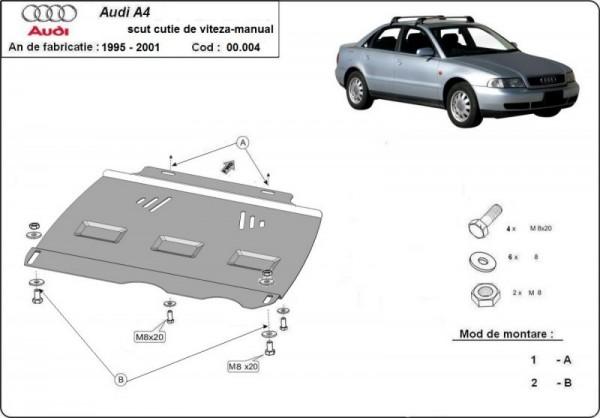 Stalowa osłona manualnej skrzyni biegów Audi A4 B5 - (1995-2000)
