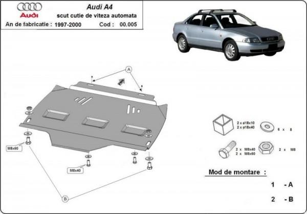 Stalowa osłona automatycznej skrzyni biegów Audi A4 B5 - (1995-2000)