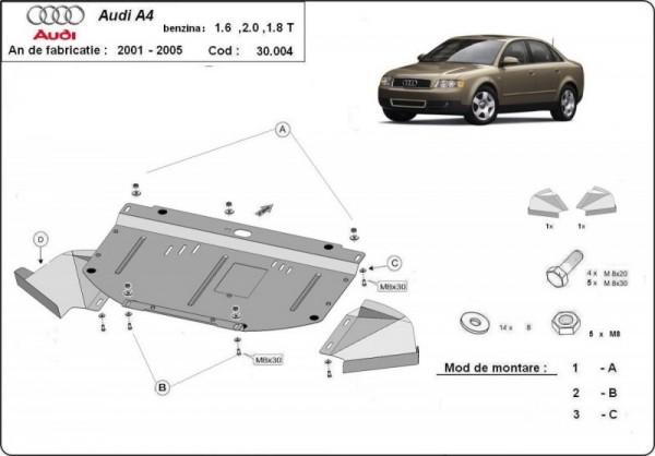 Stalowa osłona silnika Audi A4 B6 - (2000-2005)