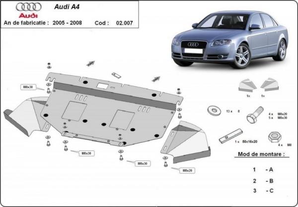 Stalowa osłona silnika Audi A4 B6 - diesel 2.5 Tdi (2000-2005)