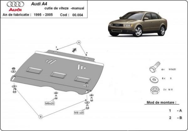 Stalowa osłona manualnej skrzyni biegów Audi A4 B6 - (2000-2005)