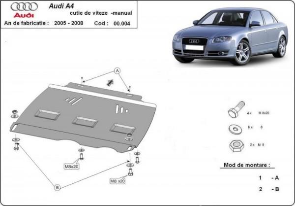 Stalowa osłona manualnej skrzyni biegów Audi A4 B7 - (2005-2008)