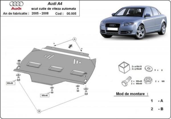 Stalowa osłona automatycznej skrzyni biegów Audi A4 B7 - (2005-2008)
