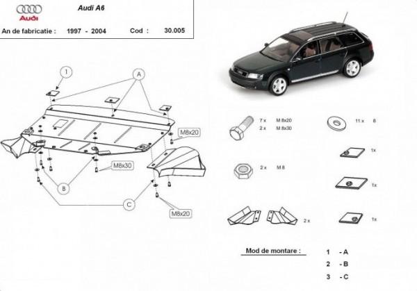 Stalowa osłona silnika Audi A6 - (1997-2004)