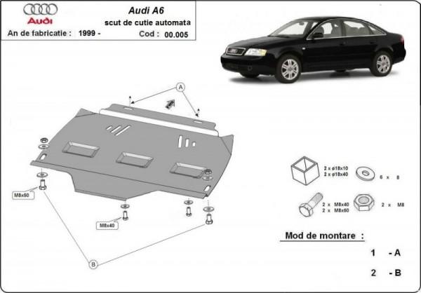 Stalowa osłona automatycznej skrzyni biegów Audi A6 - (1997-2004)