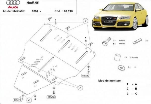 Stalowa osłona silnika Audi A6 - (2004-2011)