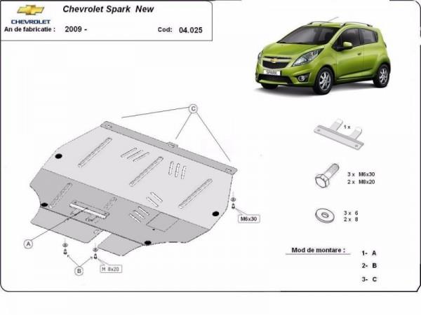Stalowa osłona silnika Chevrolet Spark - (2009-2019)