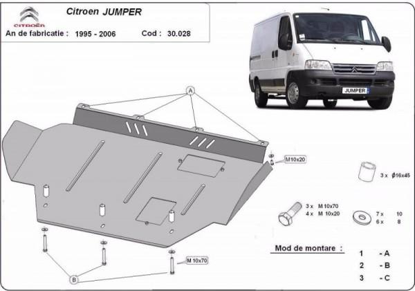 Stalowa Osłona pod silnik Citroen Jumper - (1995-2006)