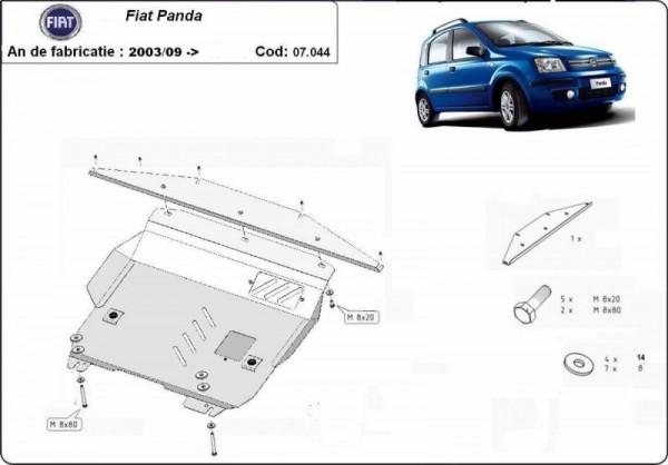 Stalowa Osłona pod silnik Fiat Panda - (2006-2012)