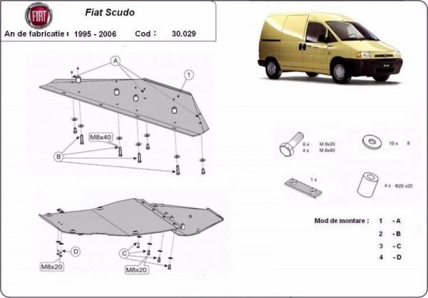 Stalowa Osłona pod silnik Fiat Scudo - (1995-2006)
