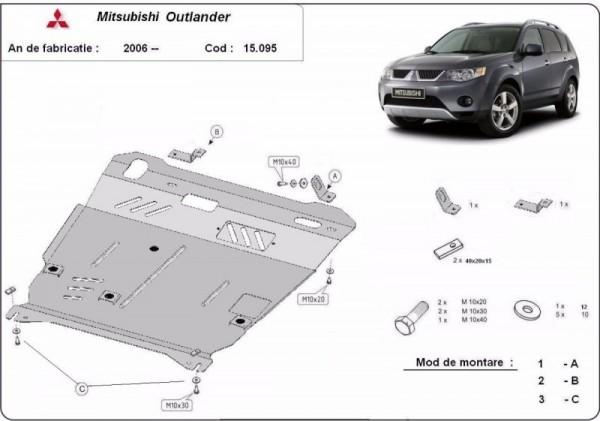 Stalowa Osłona pod silnik Mitsubishi Outlander - (2006-2012)
