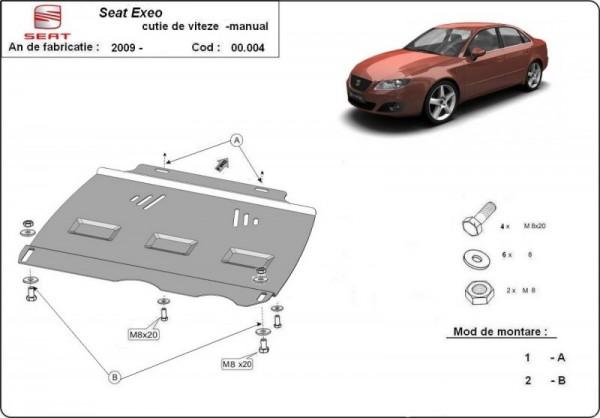 Stalowa Osłona manualnej skrzyni biegów Seat Exeo - (2009-2019)