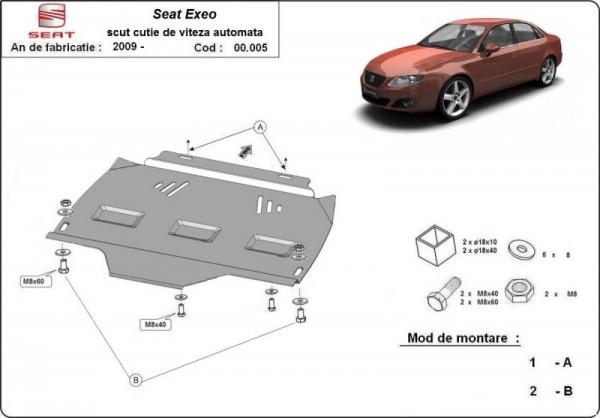 Stalowa Osłona automatycznej skrzyni biegów Seat Exeo - (2009-2019)