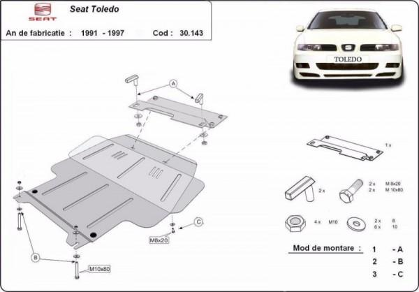 Stalowa Osłona pod silnik Seat Toledo 1 - (1991-1997)