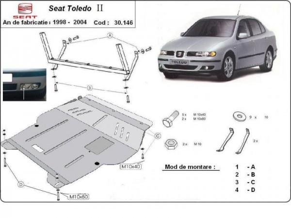 Stalowa Osłona pod silnik Seat Toledo 2 - (1998-2004)