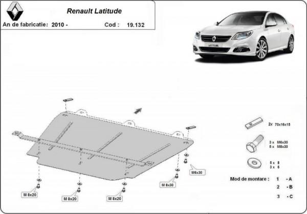 Stalowa Osłona pod silnik Renault Latitude - (2010-2019)